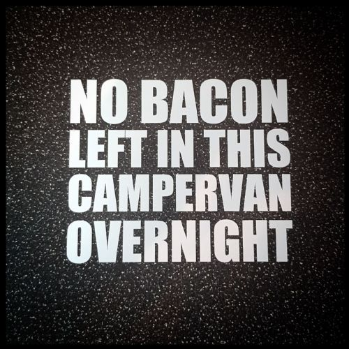 NO BACON!